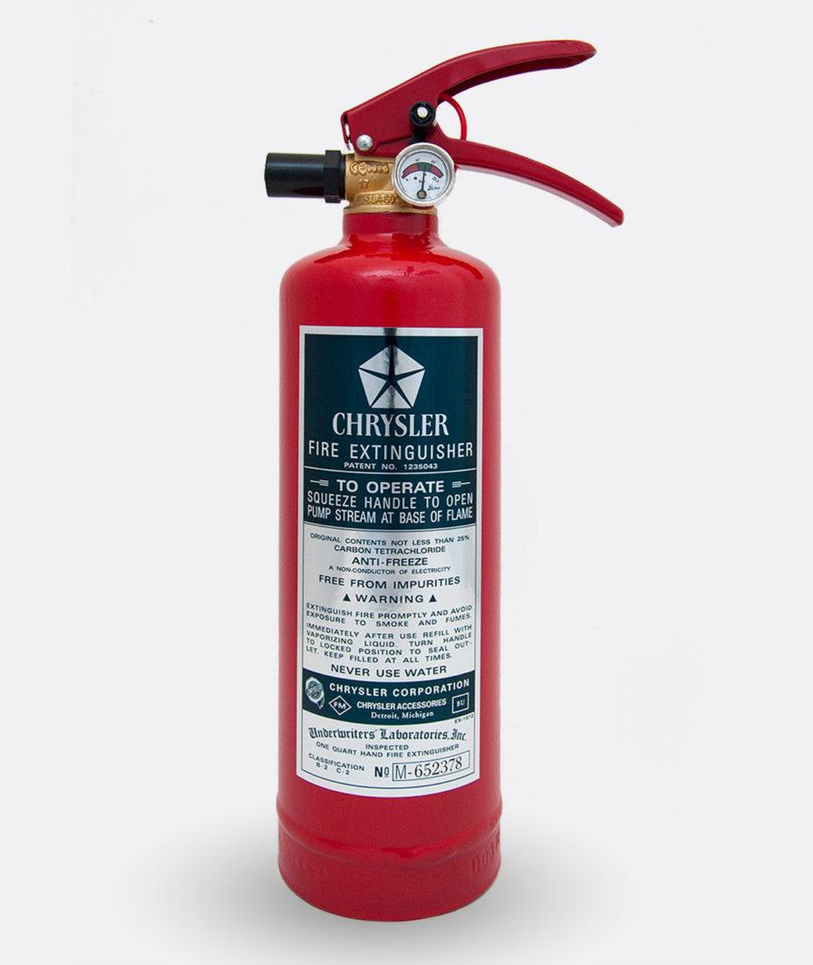 Chrysler Fire Extinguisher Sticker