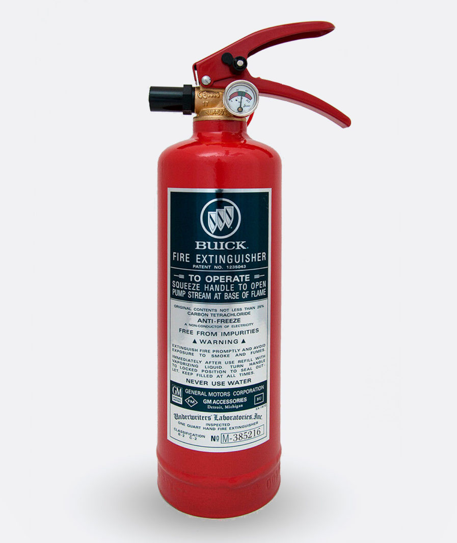 Buick Fire Extinguisher Sticker