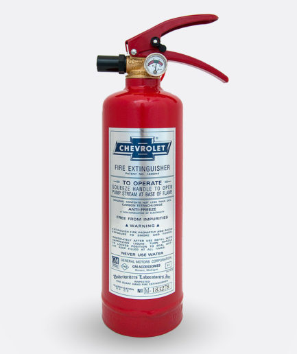 Chevrolet Fire Extinguisher Sticker