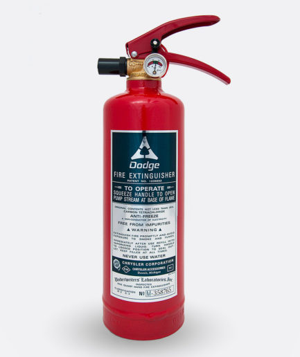 Dodge Fire Extinguisher Sticker