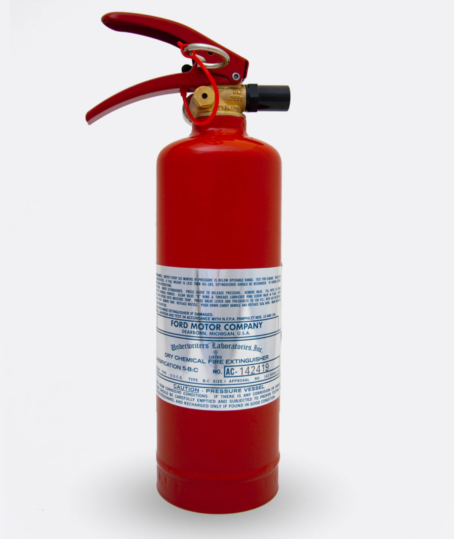 Ford Fire Extinguisher CP-2 Sticker