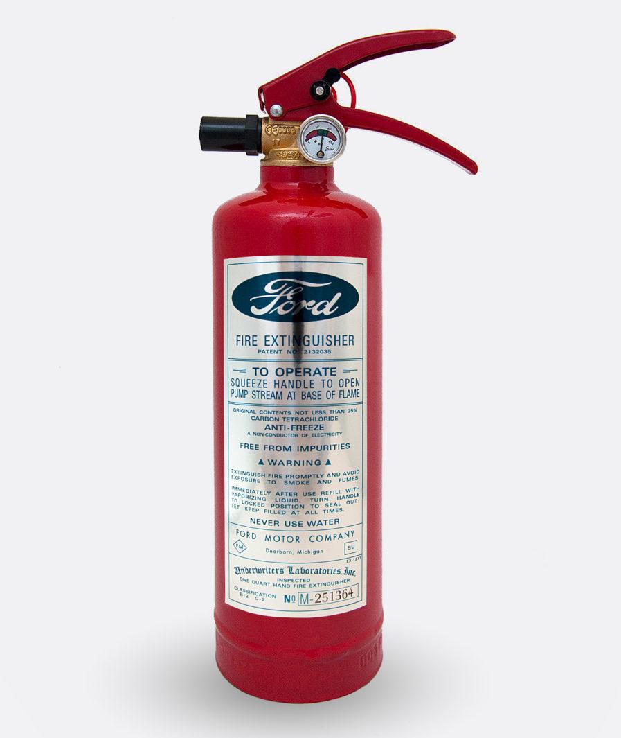 Ford Fire Extinguisher Sticker