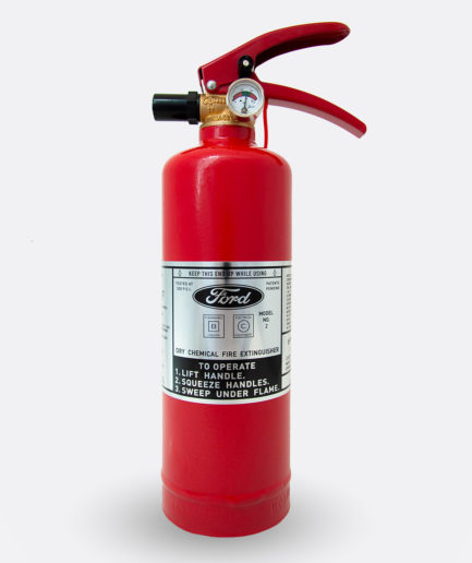 Ford Fire Extinguisher Sticker