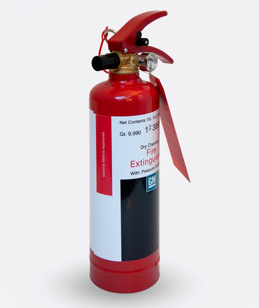 General Motor Fire Extinguisher Sticker