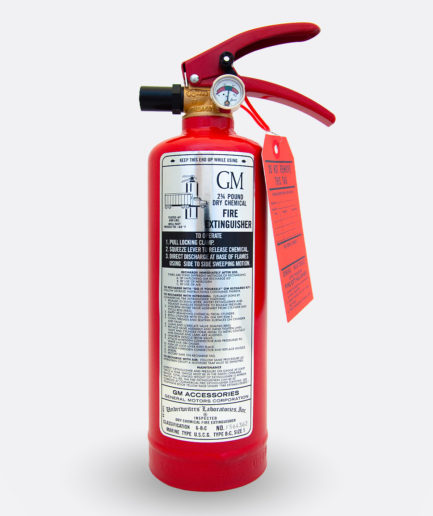 General Motor Fire Extinguisher Sticker