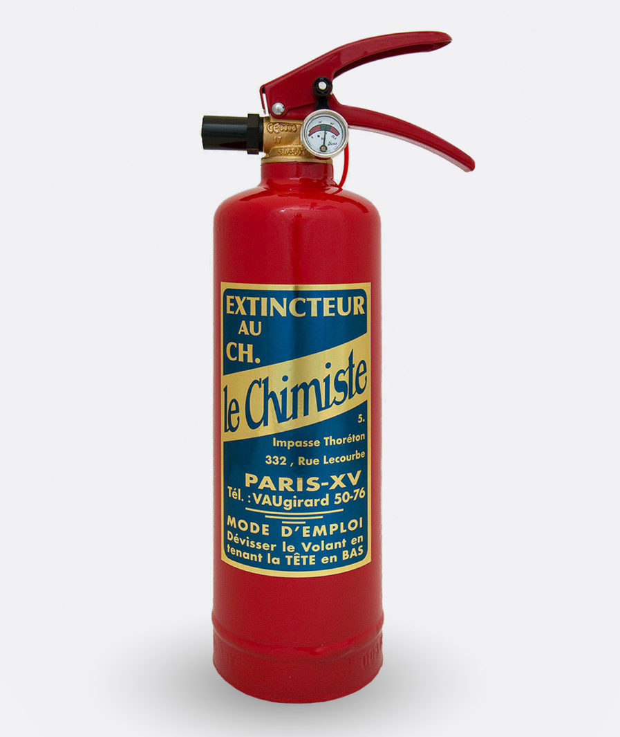Le Chimiste Fire Extinguisher Sticker