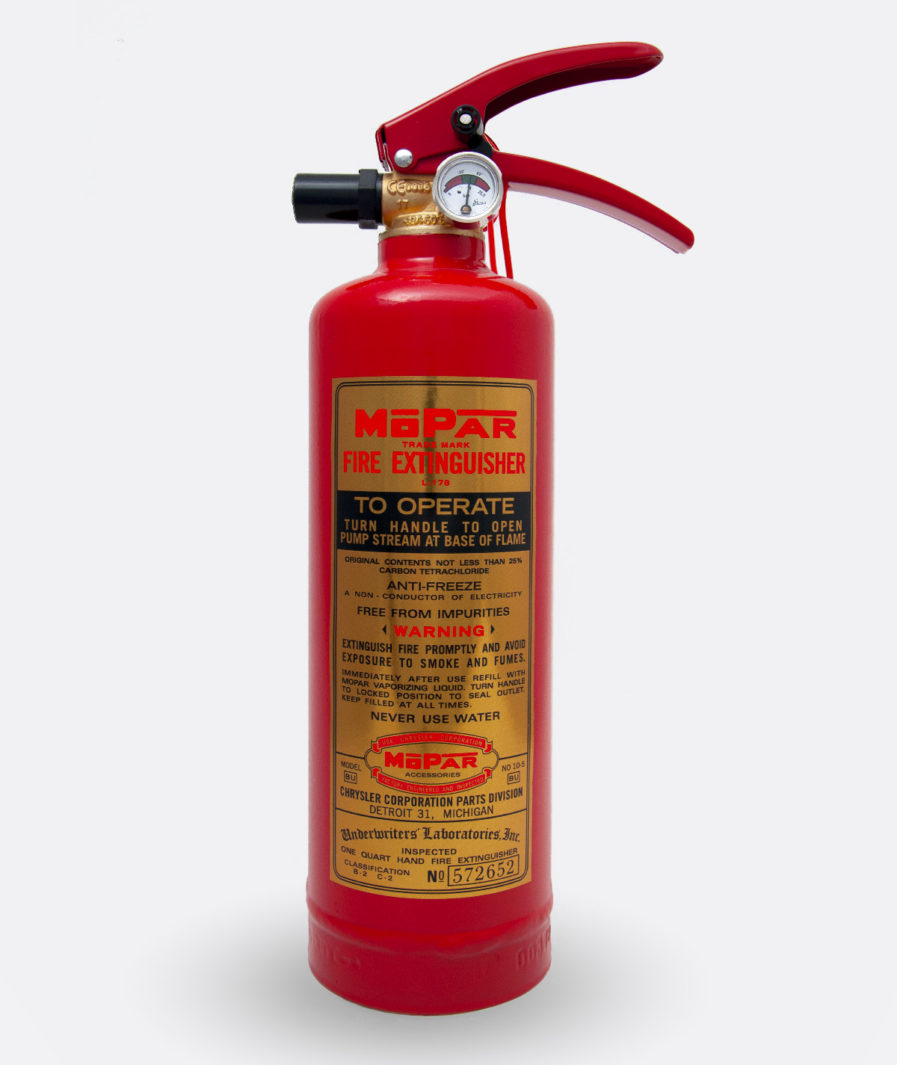 Mopar L-178 Fire Extinguisher Sticker