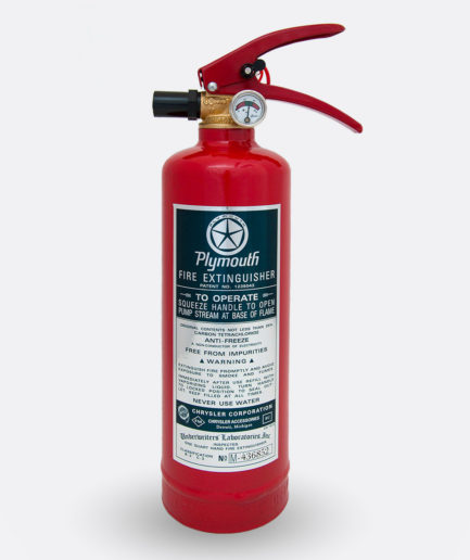Plymouth Fire Extinguisher Sticker