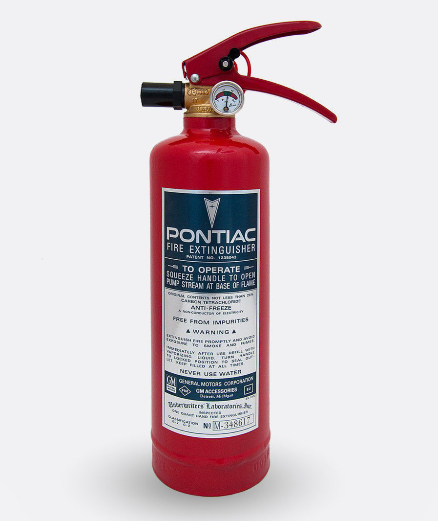Pontiac Fire Extinguisher Sticker