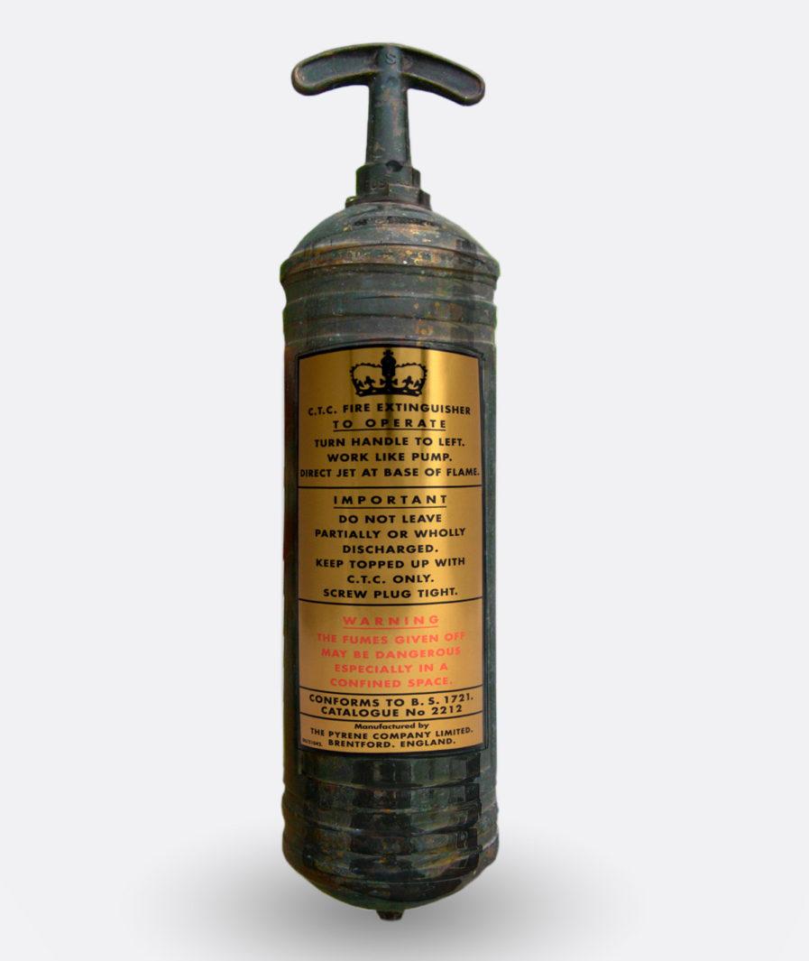 Pyrene Fire Extinguisher Sticker CTC (gold)