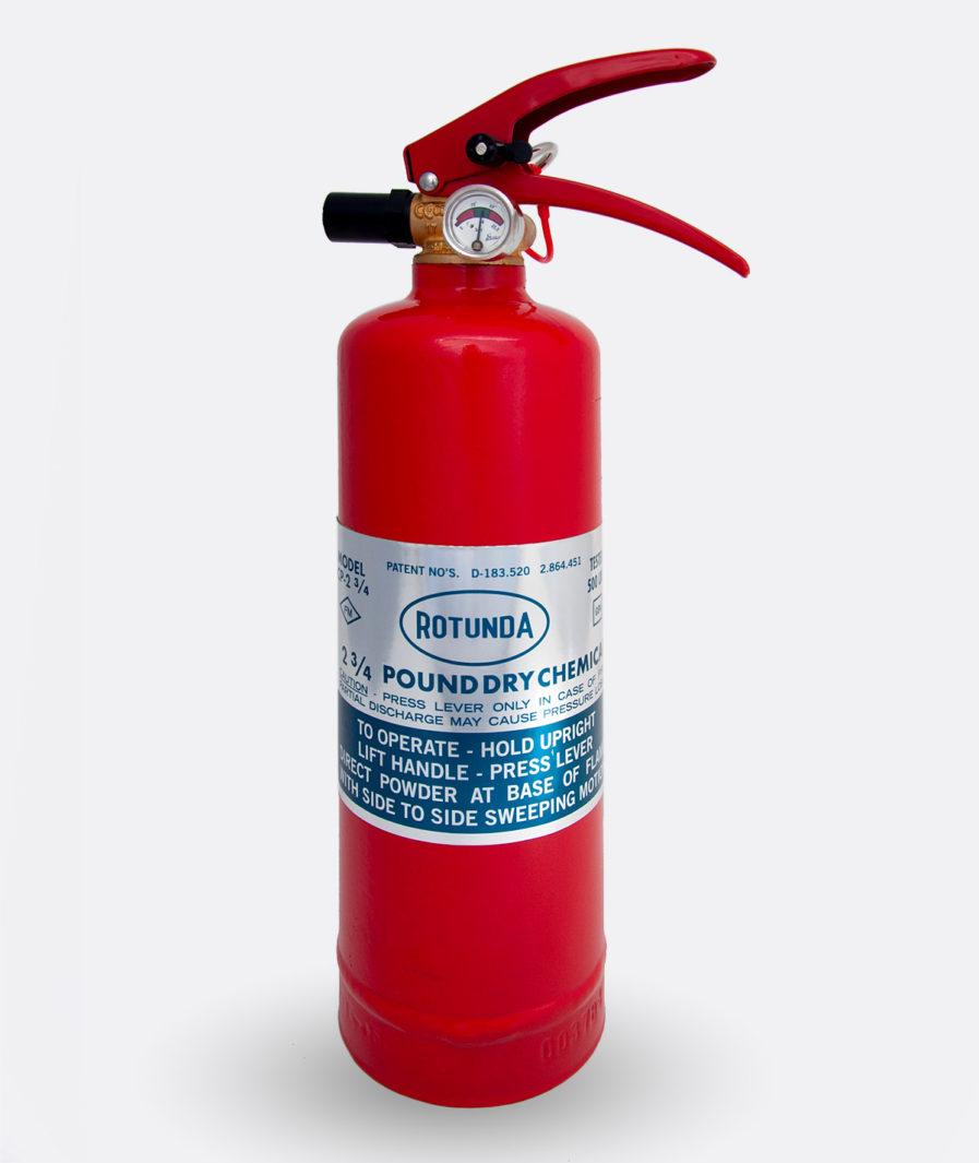 Rotunda Fire Extinguisher CP-2 Sticker