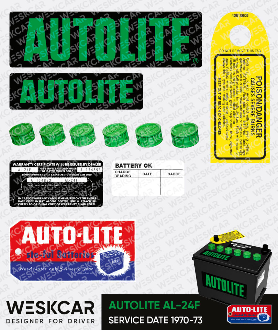 Autolite Green group 24 battery