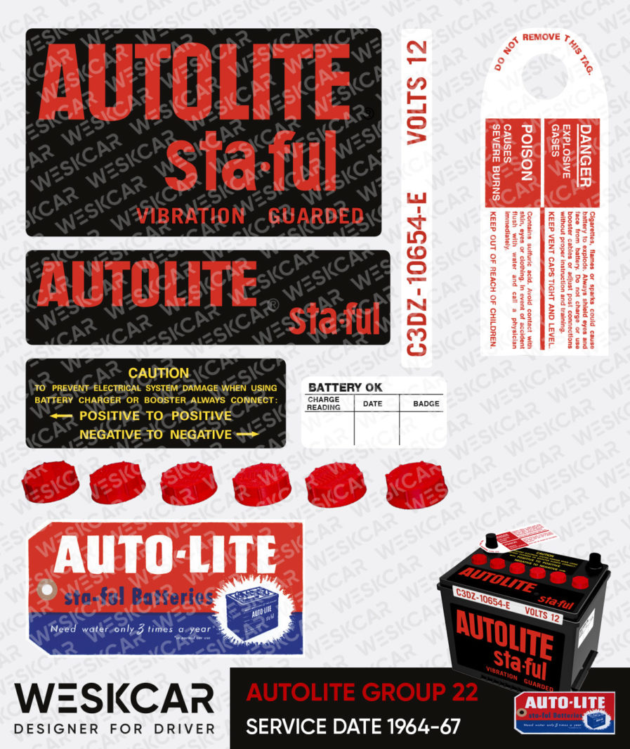 Autolite Red group 22 battery