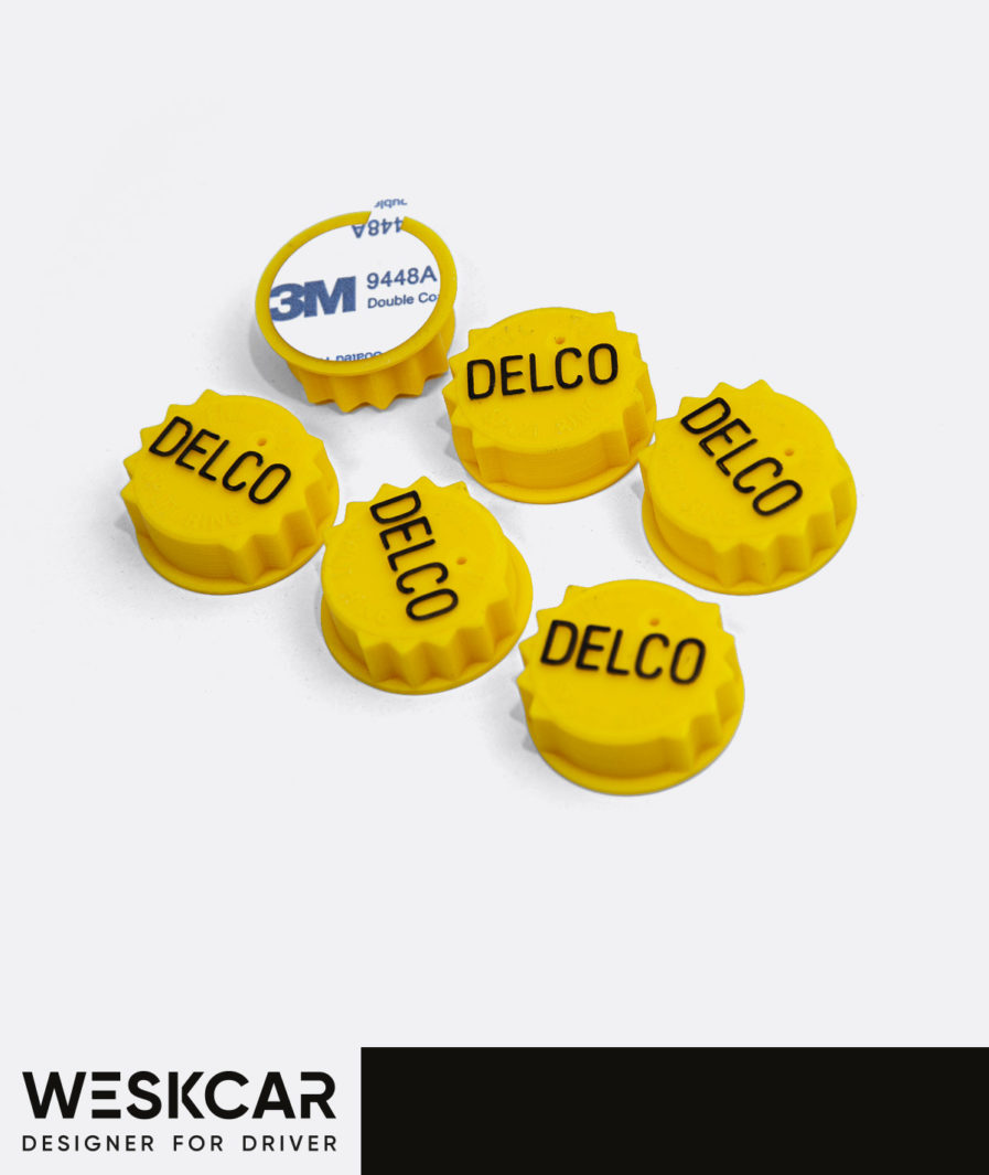 Delco Yellow Caps battery