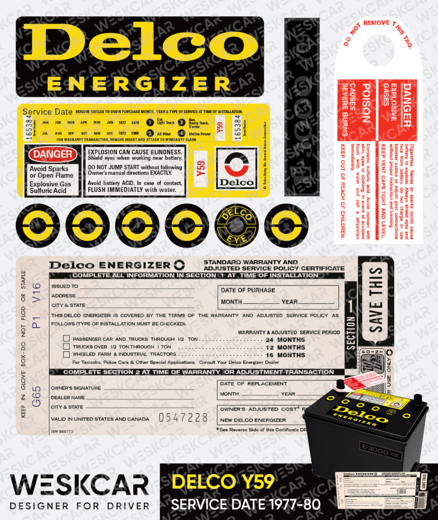 Delco Energizer Y59 battery