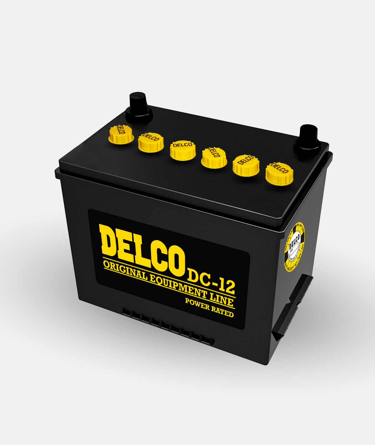 Delco Energizer Battery DC-12 Glue Caps Kit