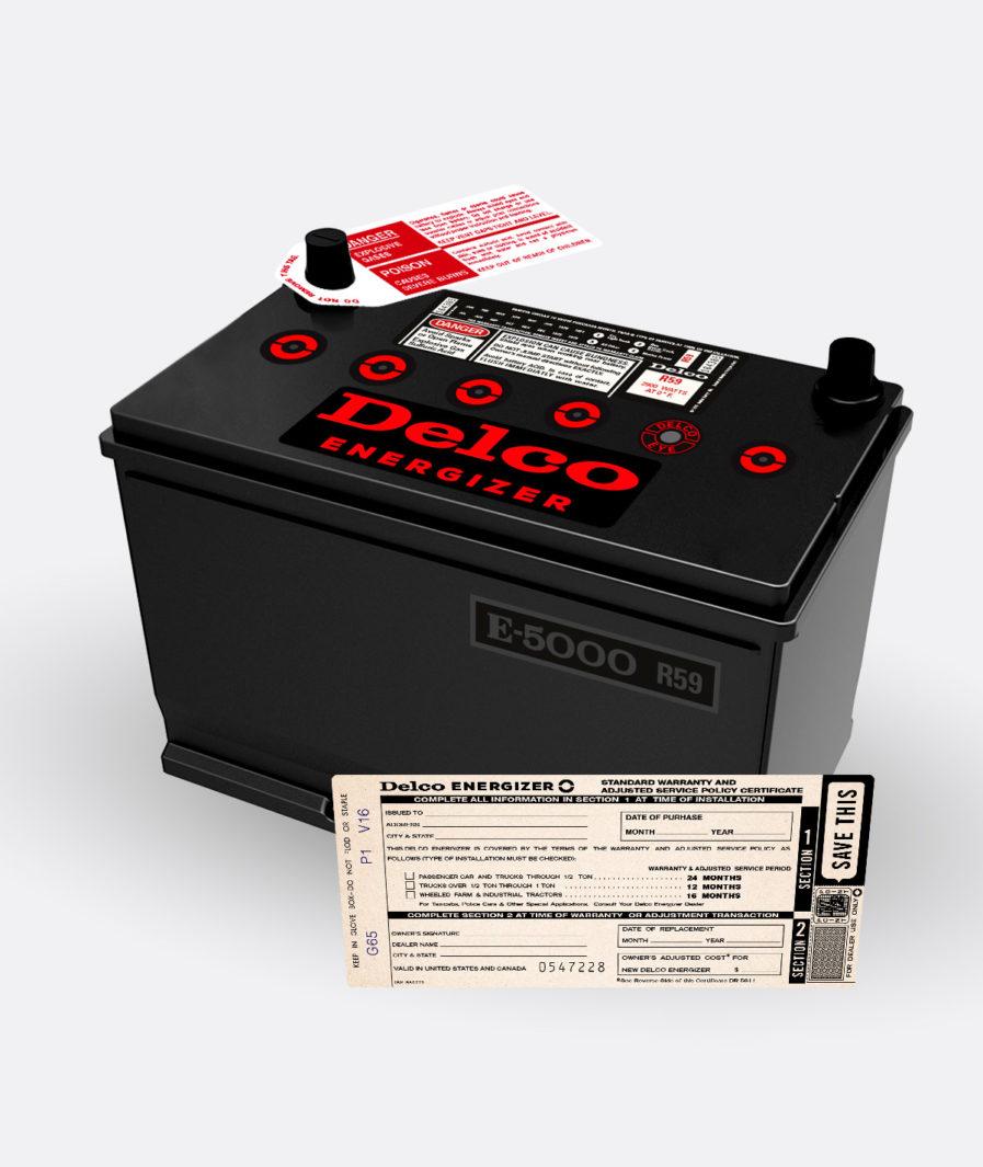 Delco Energizer R59 battery