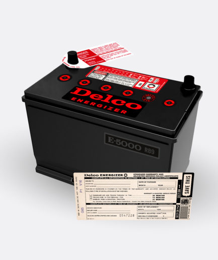 Delco Energizer R89 battery