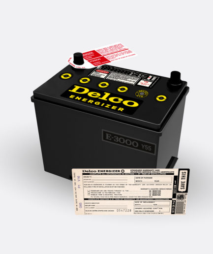 Delco Energizer Y55 battery
