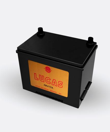 Lucas Battery FRV117A sticker