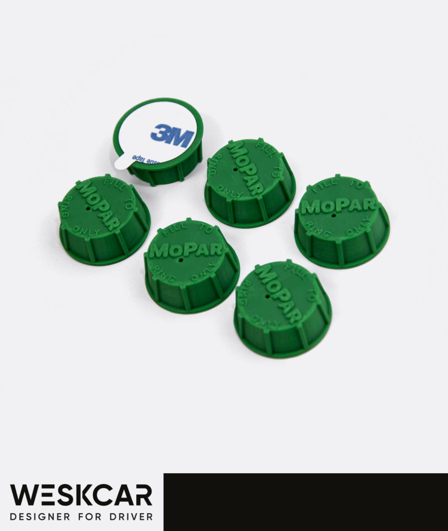 Mopar Green battery caps