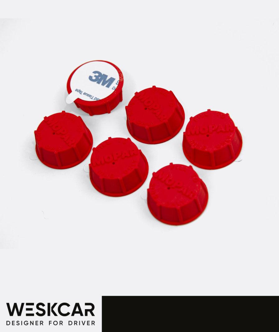 Mopar Red 27SH battery caps