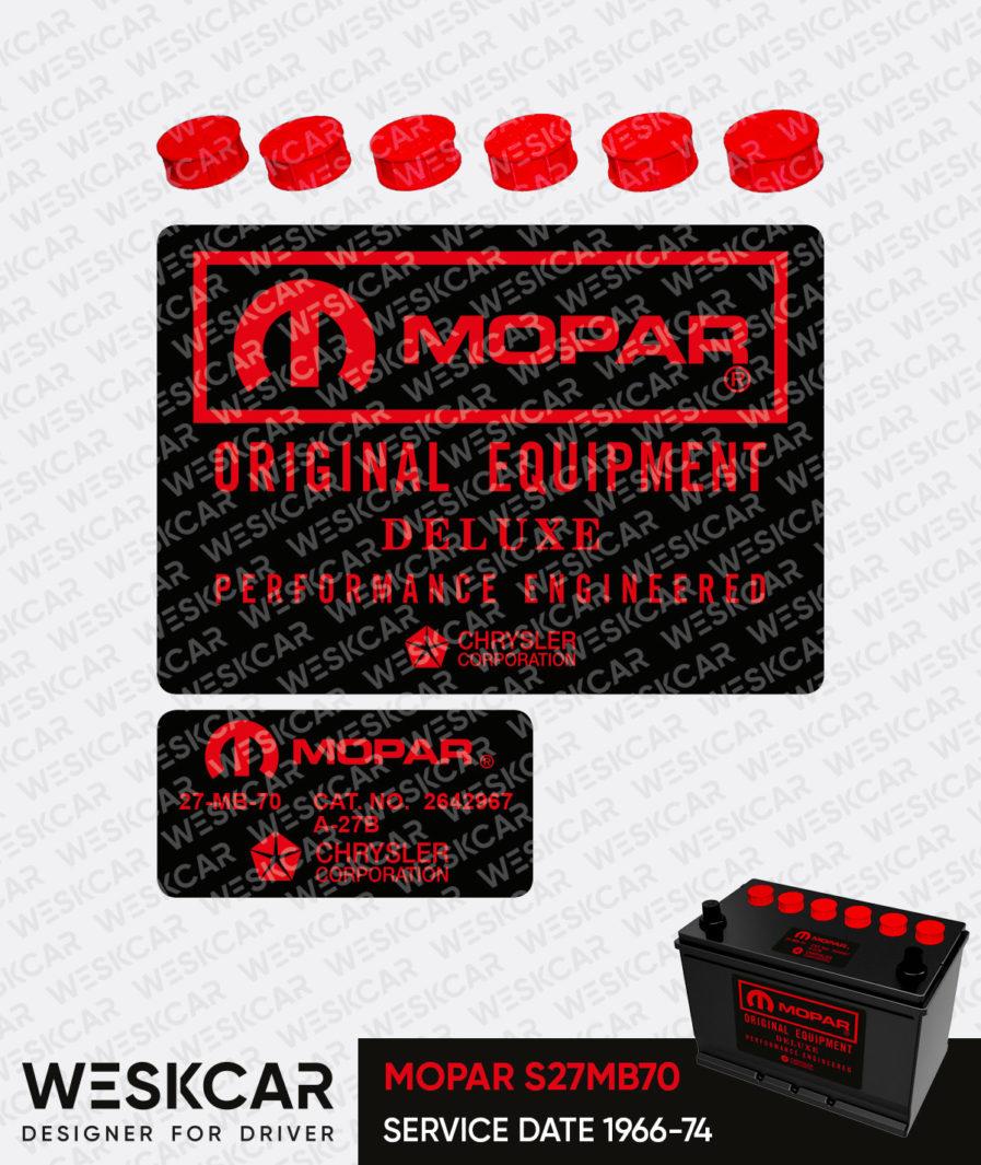 Mopar Red group 27 battery