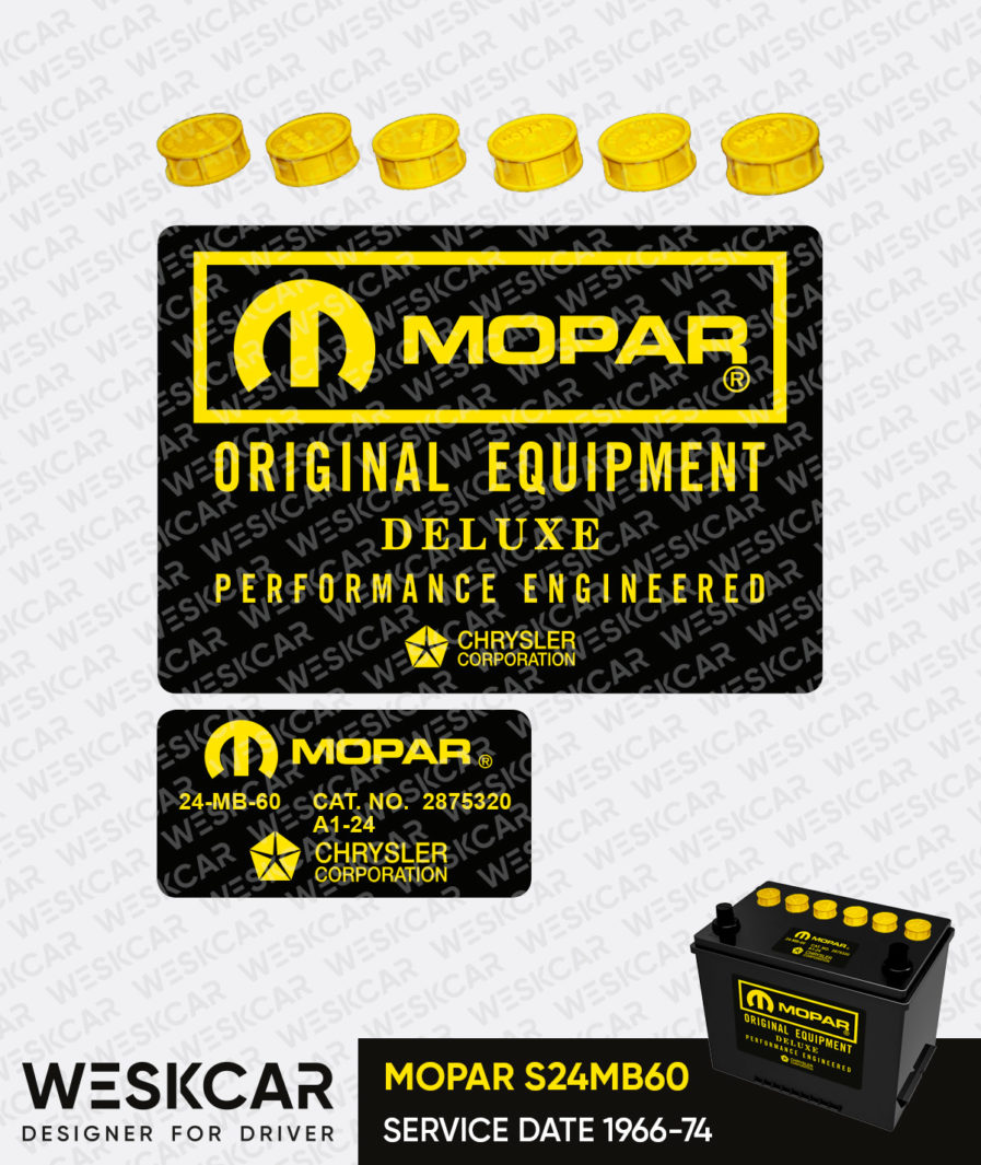 Mopar yellow group 24 battery
