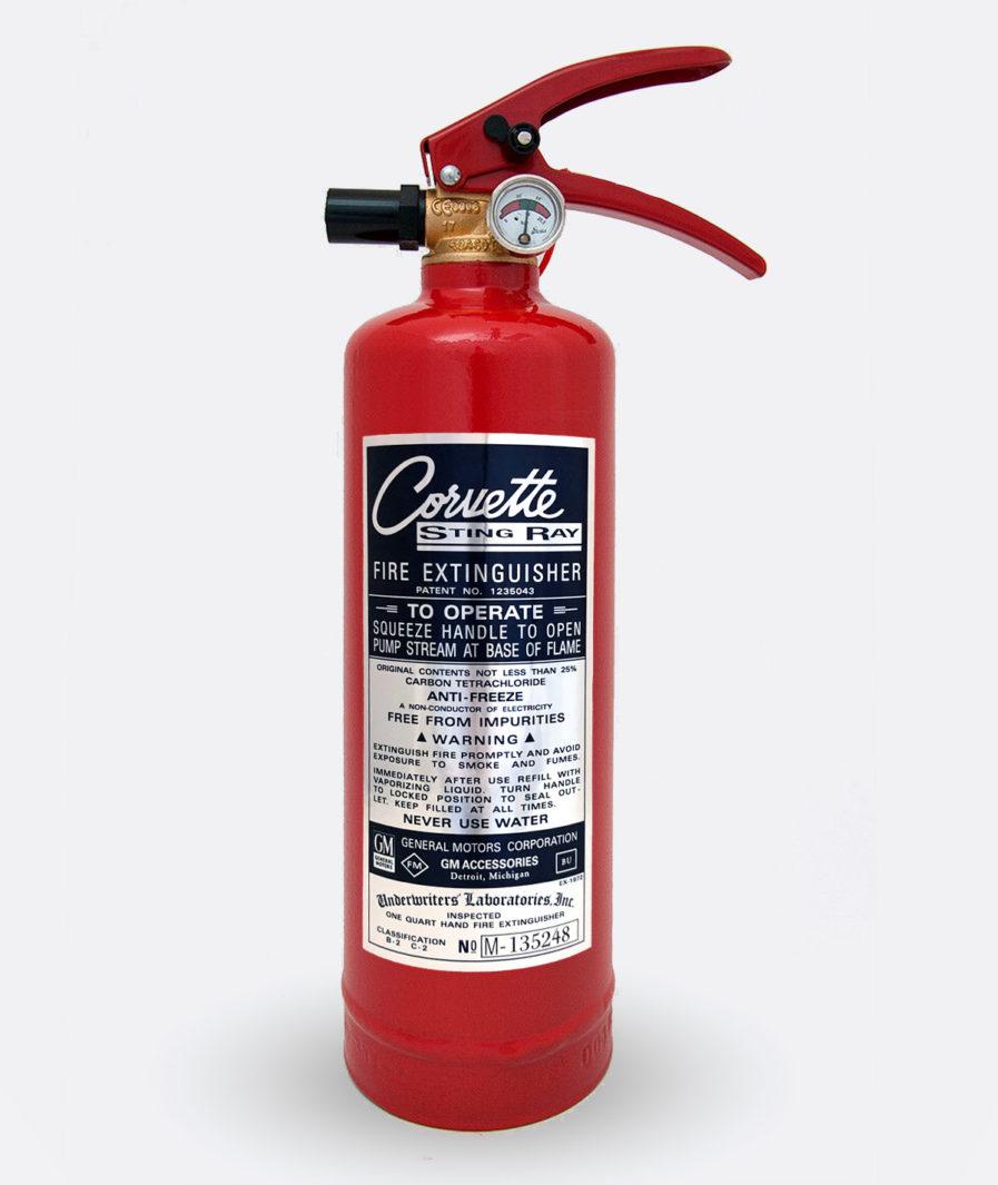 Corvette Stingray fire Extinguisher