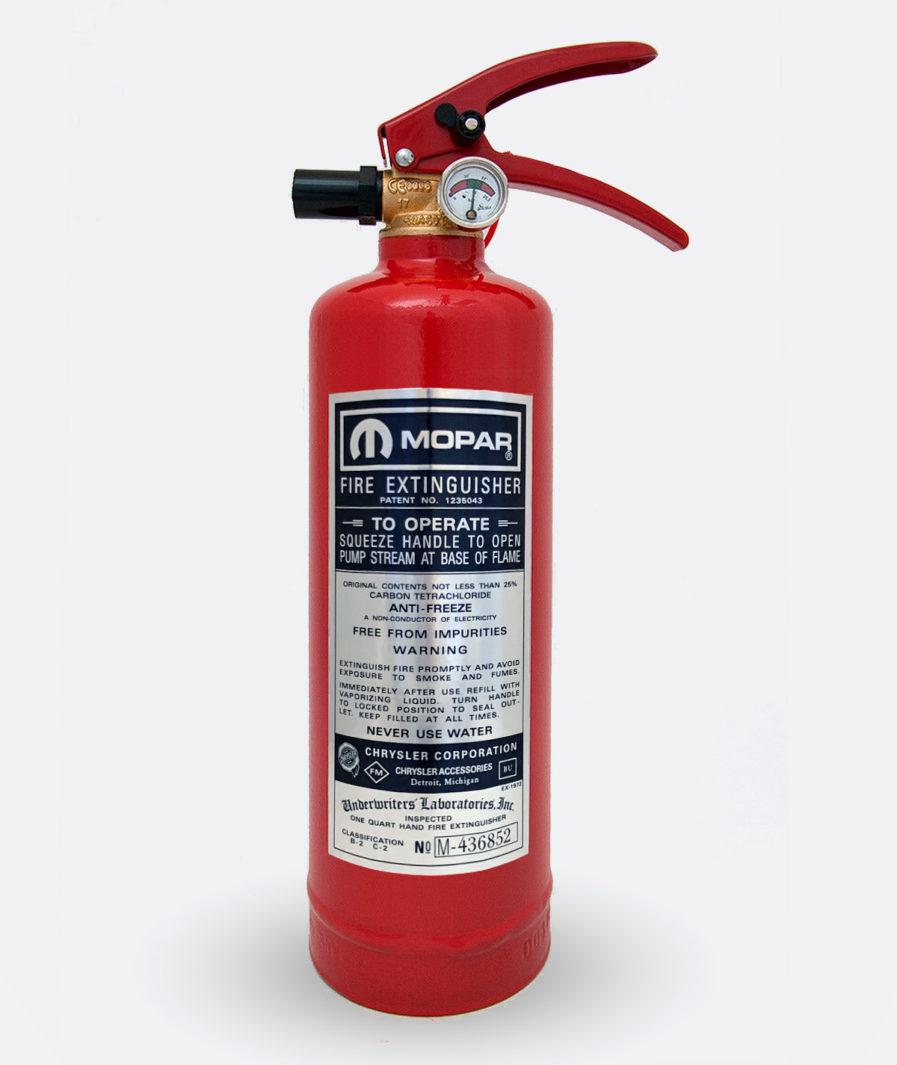 Mopar Fire Extinguisher Sticker