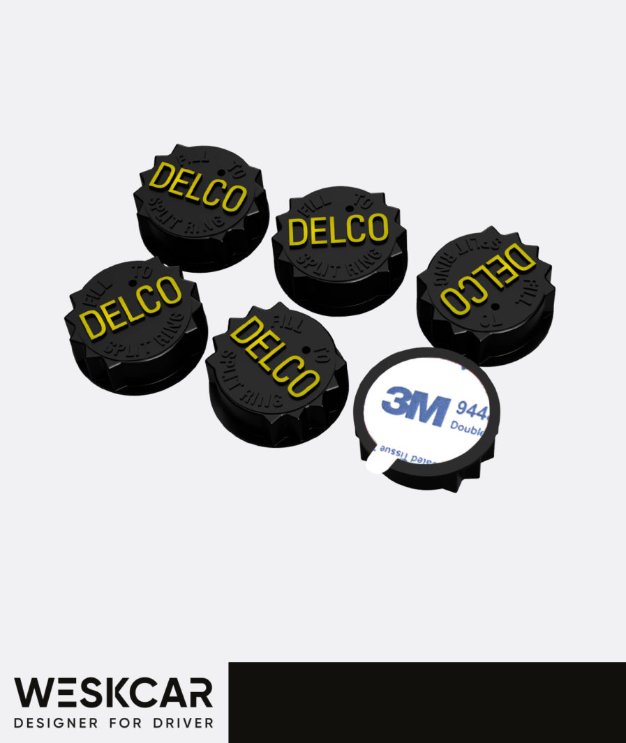 Delco battery black caps
