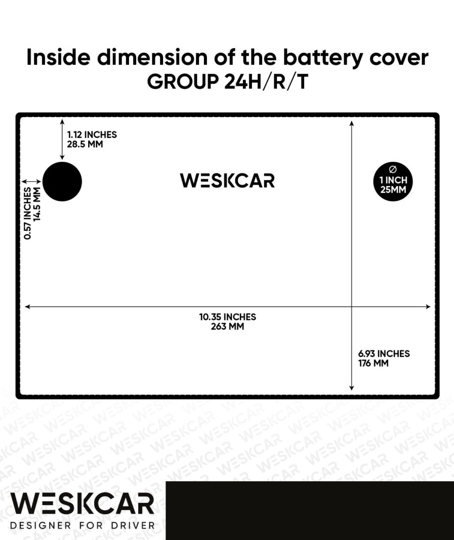 weskcar grou24 battery dimension