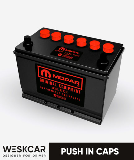 Mopar Group 27 red push in caps