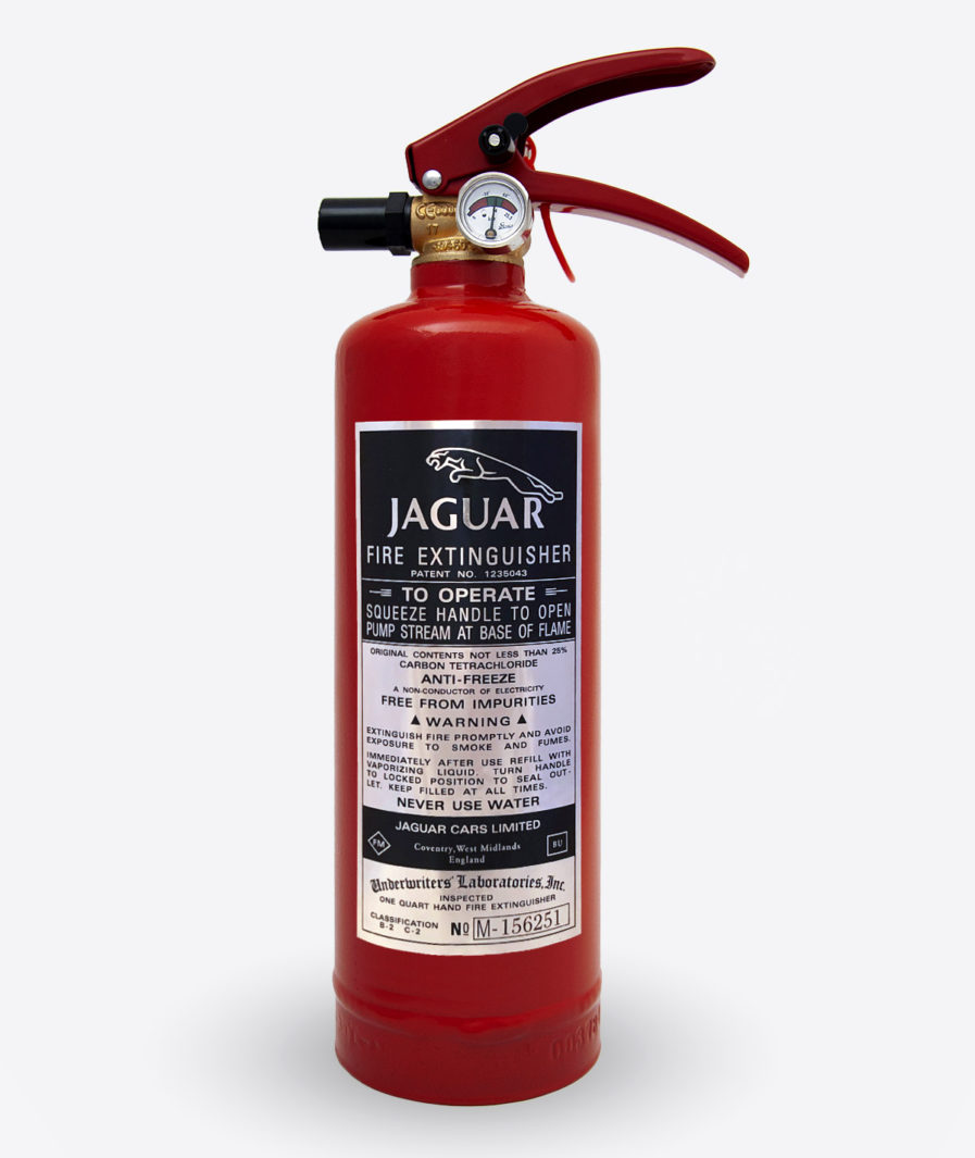 Jaguar Extinguisher sticker