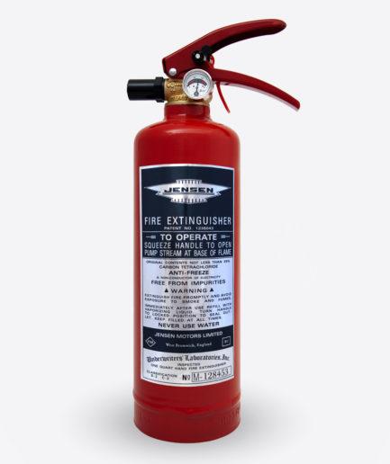 Jensen Extinguisher sticker