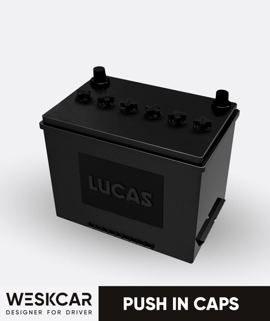 Lucas battery FRV117A Push in caps kit