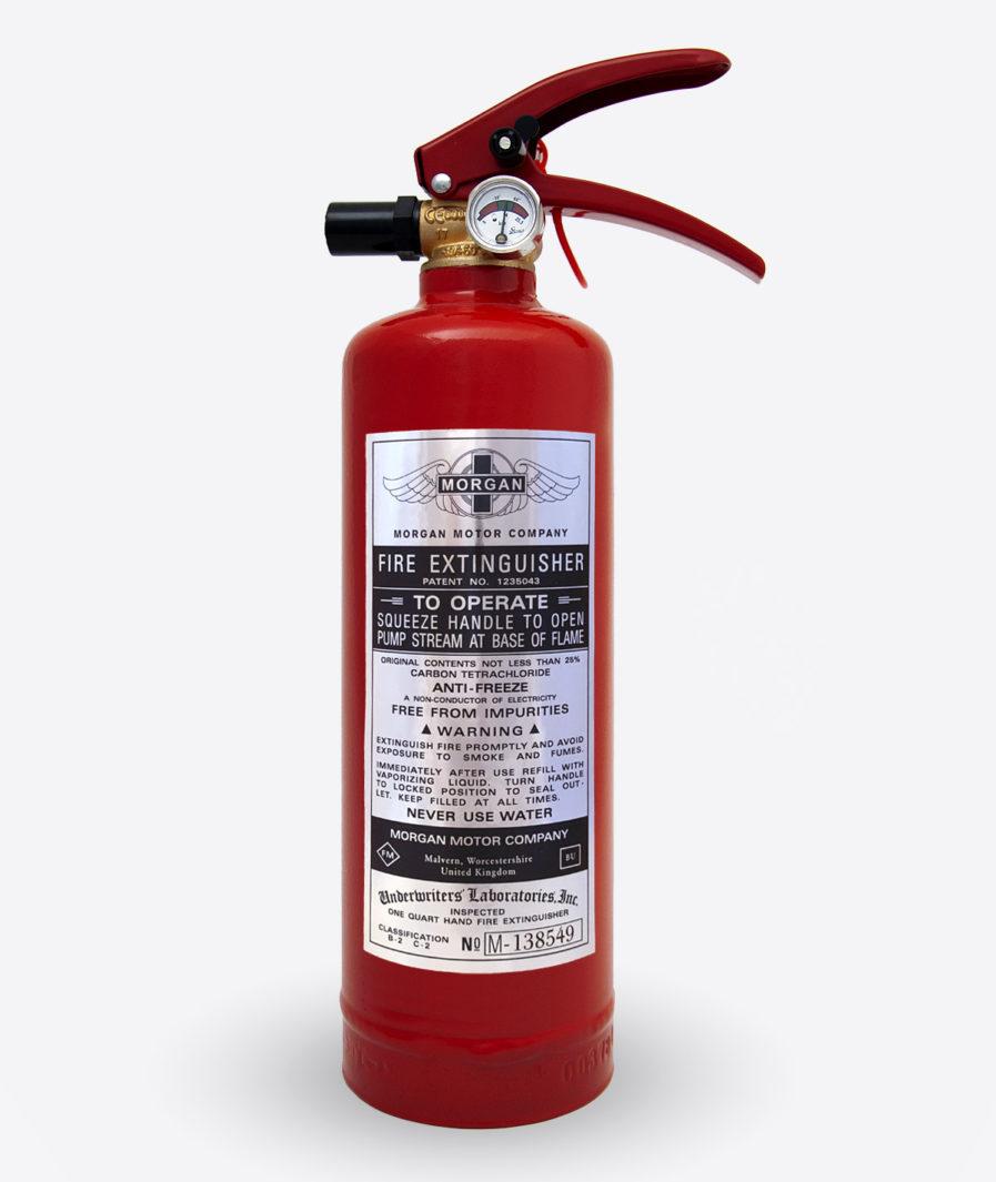 Morgan Extinguisher sticker