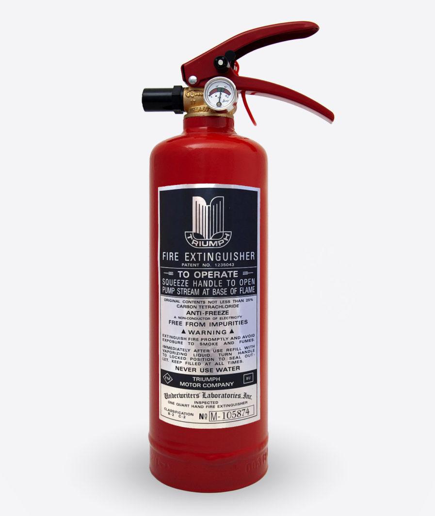 Triumph Extinguisher sticker