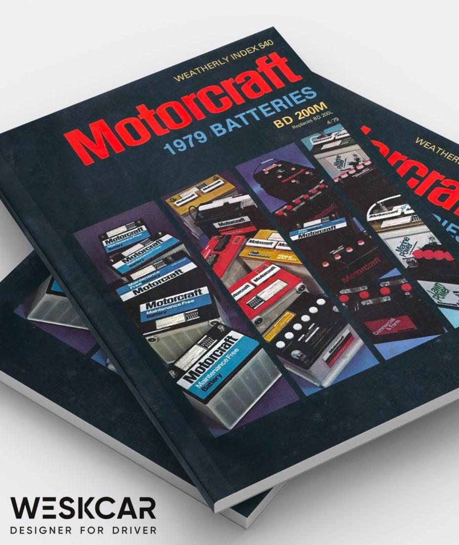 Motorcraft catalog battery